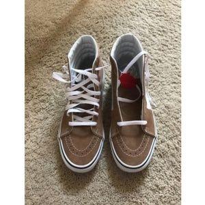 Vans Shoes - Vans Sk8-Hi Skate Shoes Tiger Eye Tan  True White c0c5337f9